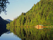 Great Bear Lodge - The floating lodge is surrounded by spectacular scenery