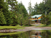 Haida House - Serene setting next to the Tlell River.