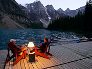 Moraine Lake Lodge - The unique atmosphere at the Moraine Lake