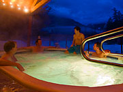 Tweedsmuir Park Lodge - Take a moonlit dip in the hot tub
