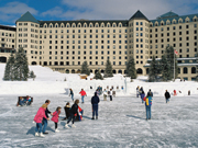 Fairmont Chateau Lake Louise - Skating on Lake Louise in winter