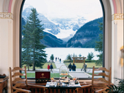 Fairmont Chateau Lake Louise - Lake view from the hotel lounge