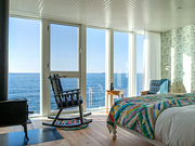 Fogo Island Inn - Guest Suite with wood-burning stove