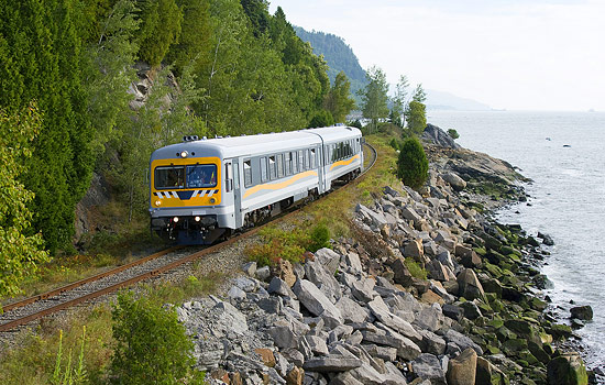 Taking the train to the Charlevoix region