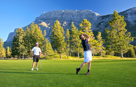 Golfing at world-famous Banff Springs