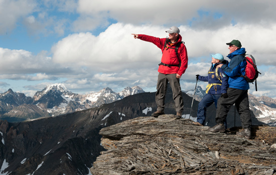 Heli-hiking in the Canadian Rockies