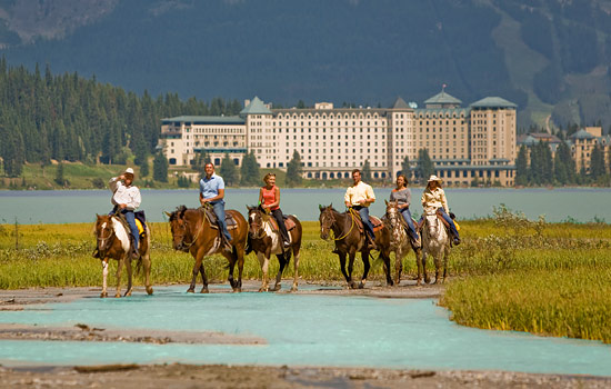 Touring the backcountry on horseback