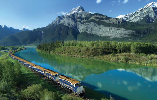 Rocky Mountaineer Train between Vancouver and the Rockies