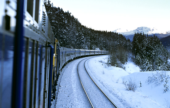Add a train journey from Toronto or Vancouver