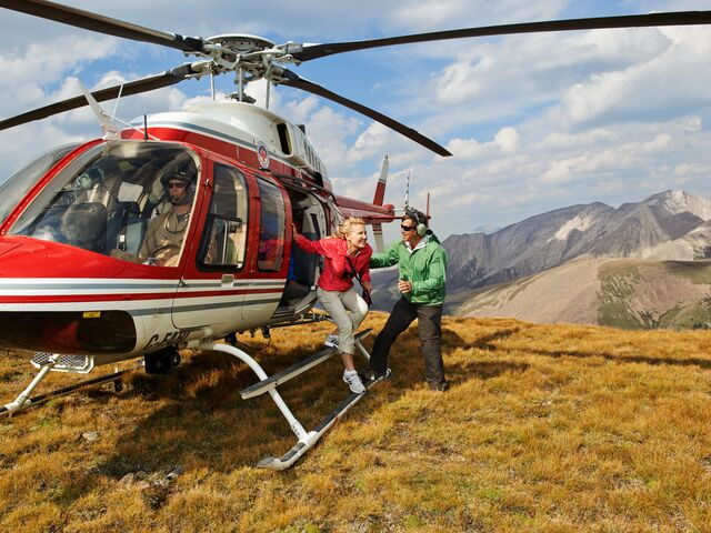 Receive a free helicopter tour in Banff when you book a qualifying trip