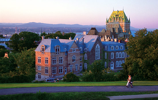 The Fairmont Frontenac in Quebec