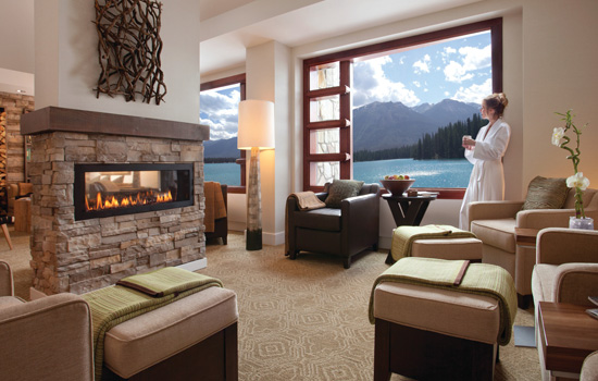 The Fairmont hotel in the Canadian Rockies