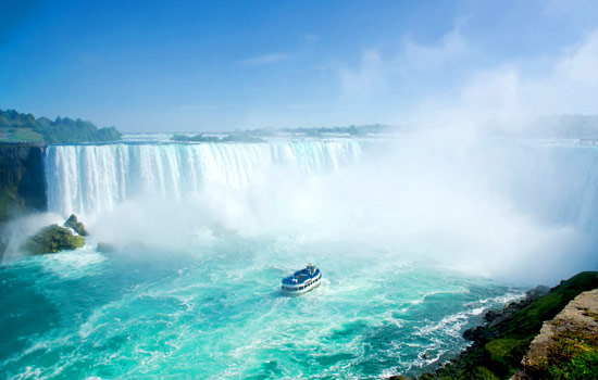 The Hornblower tour of Niagara Falls