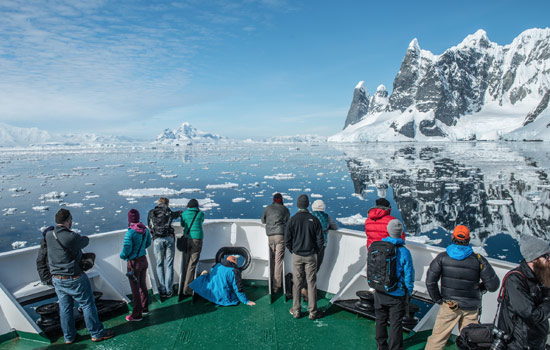 Onboard the Akademik Ioffe expedition cruise ship