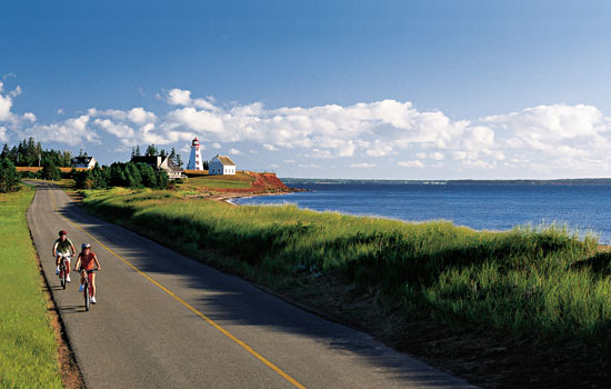 Biking around PEI