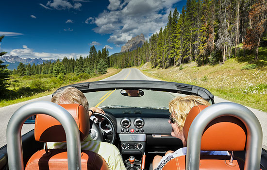 Explore the Canadian Rockies in a rental car