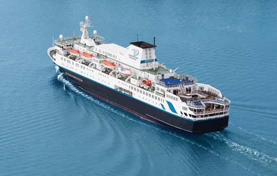 The Ocean Endeavour cruise ship