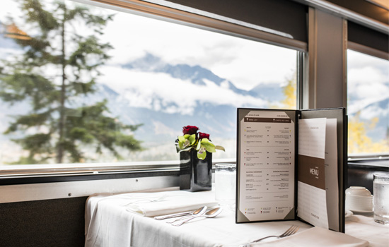 Enjoy dinner with a view onboard VIA Rail