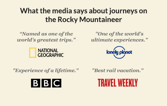 What the media say about journeys on the Rocky Mountaineer