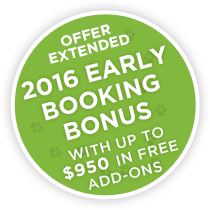 Exclusive Offer – 2016 Early Booking Bonus