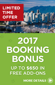 Limited Time Offer – 2017 Early Booking Bonus