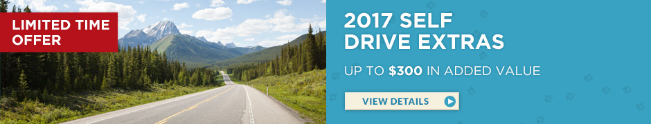 Limited Time Offer – 2017 Self Drive Extras