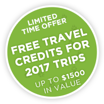 Limited Time Offer – Free Travel Credits for 2017 Trips