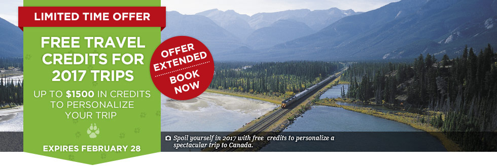 Exclusive Offer – Free Travel Credits for 2017 Trips