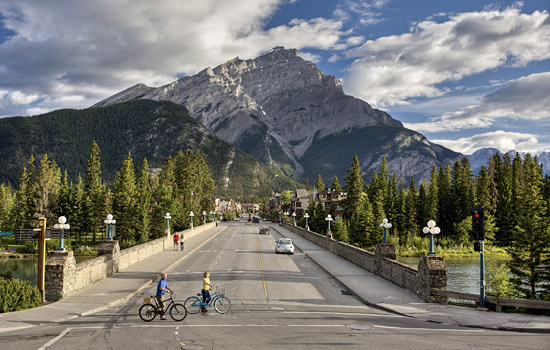 Your vacation includes some time in the lively little town of Banff.