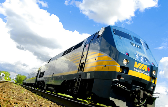 Via Rail 'Corridor' train will take you from Montreal to Quebec City.
