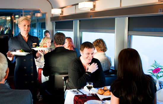 Via Rail offers gourmet meals and comfortable private cabins.