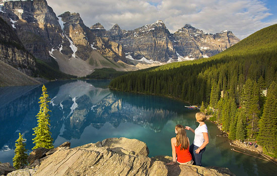 Moraine Lake in the Rocky Mountains