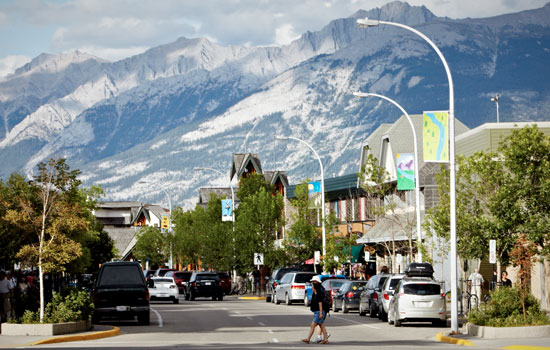 Downtown Jasper in the Canadian Rockies