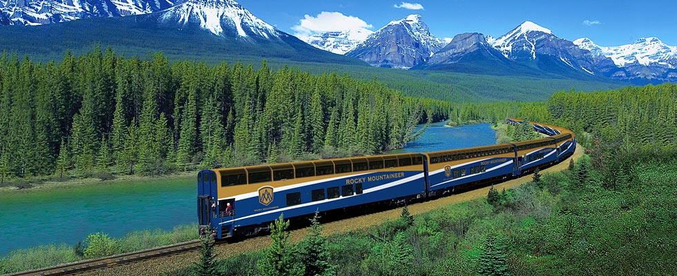 Canadian train - Rocky Mountaineer