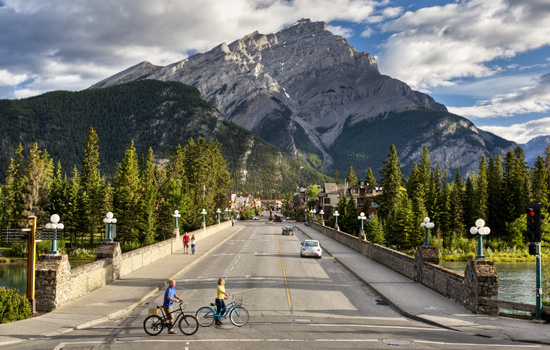 Arrive into the bustling mountain town of Banff and settle into your Canadian Rockies hotel.