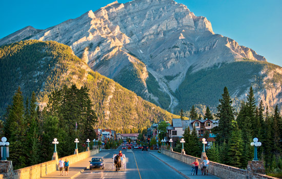 Banff sits beneath Tunnel Mountain