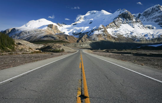 The Icefields Parkway in the Canadian Rockies