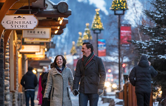 After a day of adventure, unwind with a stroll and browse the shops along Banff Avenue.