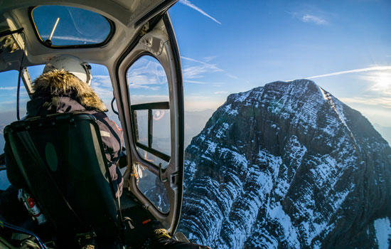An unforgettable helicopter tour over the Icefields Parkway