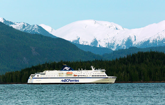 BC Ferries cruising the Inside Passage