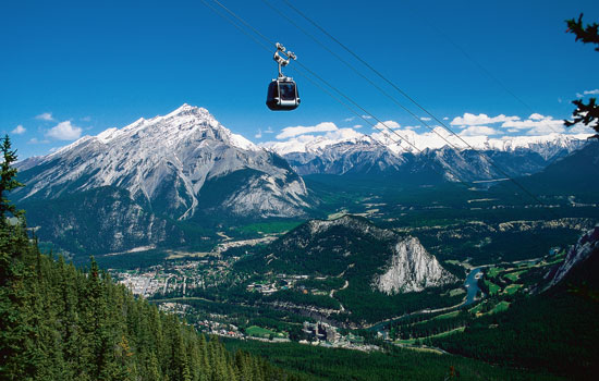 Sulphur Mountain gondola ride above Banff National Park