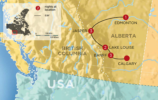 Christmas in the Canadian Rockies – Map
