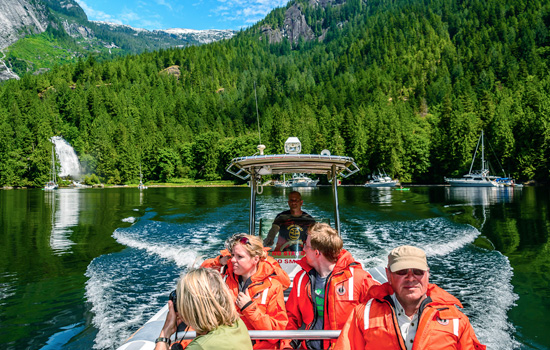 Venture up Princess Louisa Inlet on a scenic zodiac tour