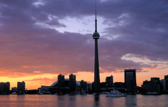 Toronto skyline and the CN Tower