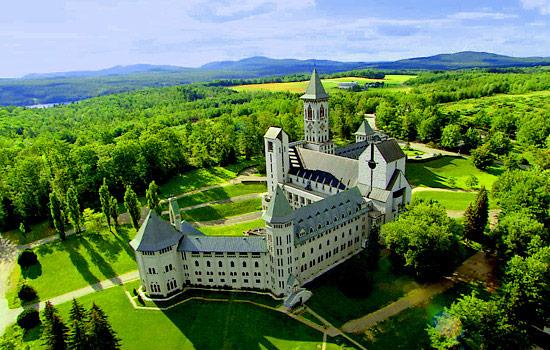 A French style castle in the Quebec countryside