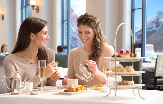 Don't miss out on the classic Afternoon Tea at Lake Louise, ask your Vacation Advisor to add in this experience.