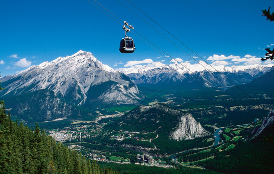 Take the gondola to the top of Sulphur Mountain.