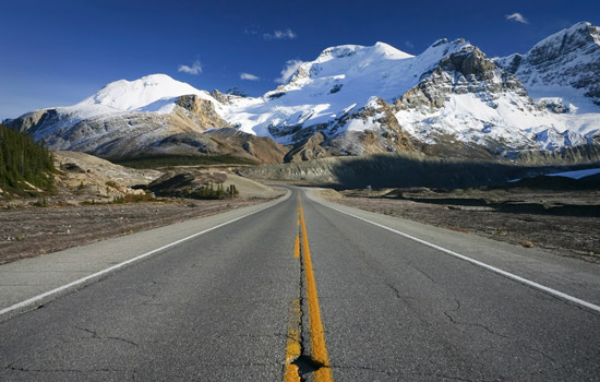 Join a sightseeing tour on the Icefields Parkway, one of the most scenic mountain roads in the world.