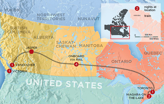 Canadian Cross Country Journey – Map