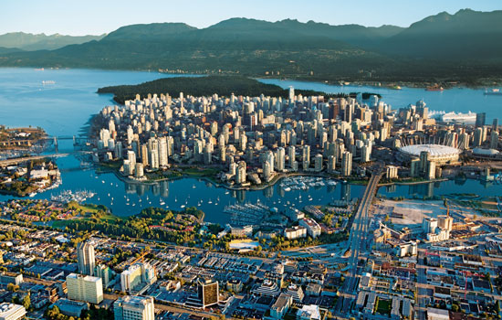 Visit Vancouver on a cross country train journey